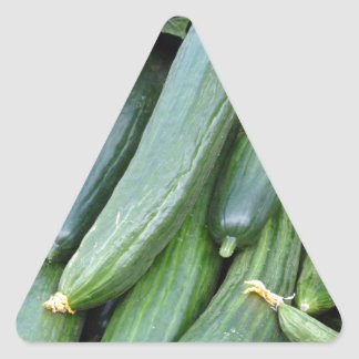 cucumber triangle sticker