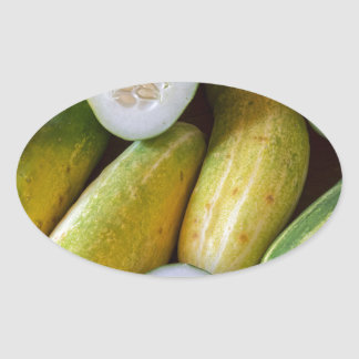 Cucumbers Oval Sticker