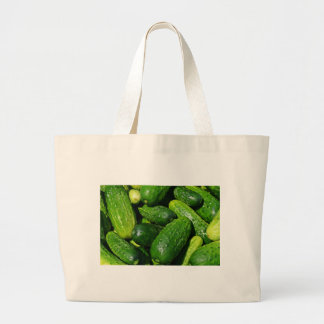 cucumbers pile large tote bag