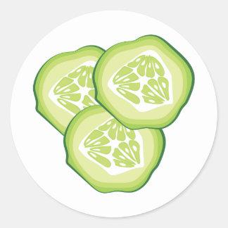 Cucumbers Round Sticker