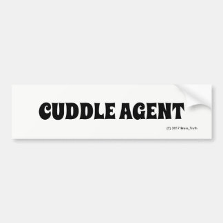 CUDDLE AGENT BUMPER STICKER