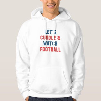 Cuddle And Football Hoodie