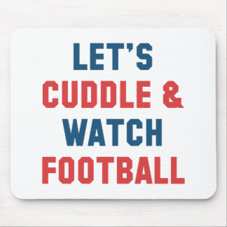 Cuddle And Football Mouse Pad