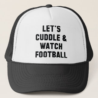 Cuddle And Football Trucker Hat