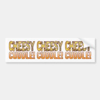 Cuddle Blue Cheesy Bumper Sticker