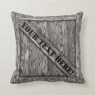 Cuddle Crate - Driftwood - with text Throw Pillow