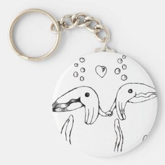cuddle fish basic round button keychain