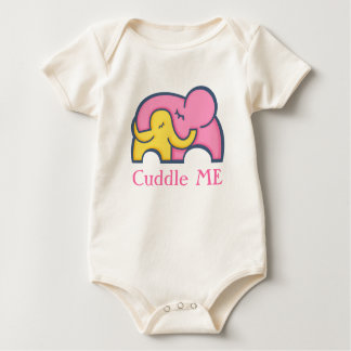 Cuddle me baby and mom elephant baby's tee