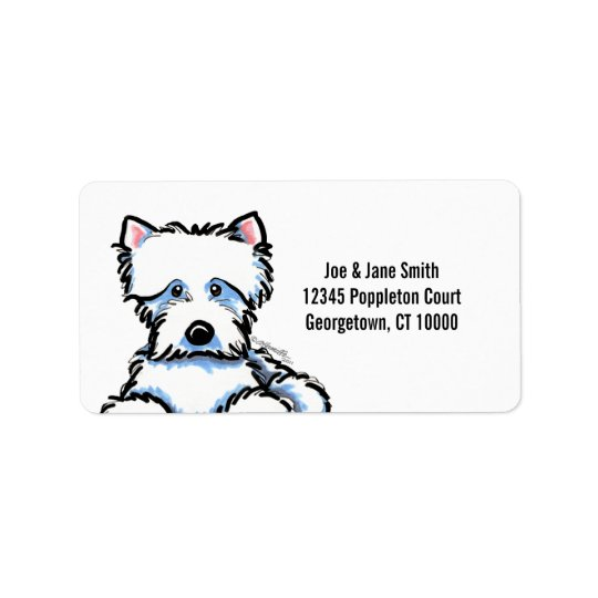 Cuddle Me Westie Label