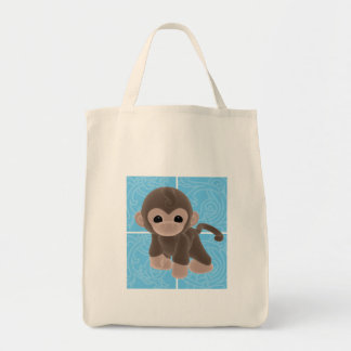 Cuddle Monkey Diaper Tote Bag