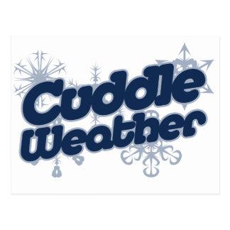 Cuddle weather postcard