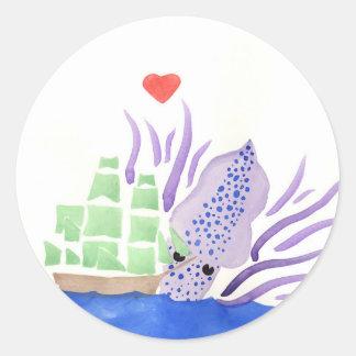 Cuddles the Kraken Classic Round Sticker