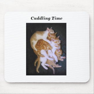 cuddling cats mouse pad