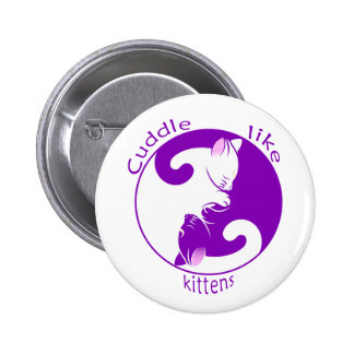 Cuddling Kitties 2 Inch Round Button