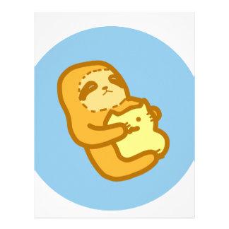 Cuddling Sloth Letterhead