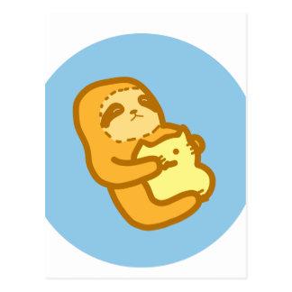 Cuddling Sloth Postcard
