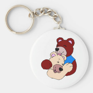 Cuddly Bears Basic Round Button Keychain