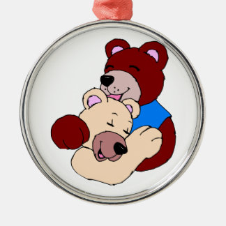 Cuddly Bears Metal Ornament