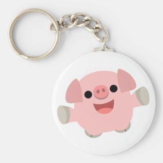 Cuddly Cartoon Pig keychain