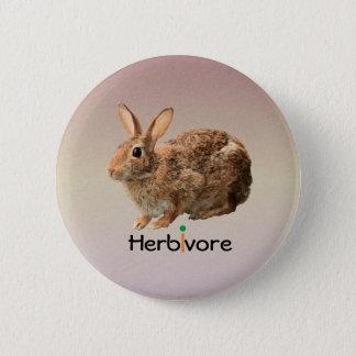 Cuddly Cute Vegan Wild Bunny Rabbit Purple 2 Inch Round Button