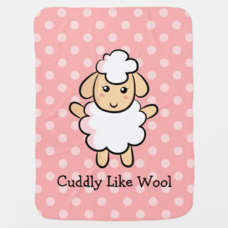 Cuddly Like Wool, Cute Sheep for Baby Girls Baby Blanket