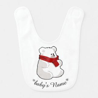 Cuddly Polar Bear Baby Bib