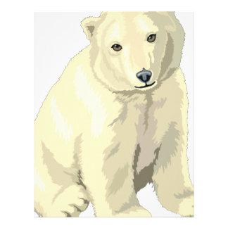 Cuddly  Polar Bear Letterhead