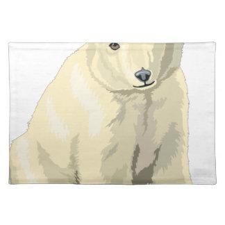 Cuddly  Polar Bear Placemat