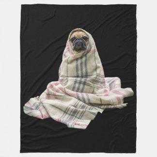 Cuddly Pug in a Blanket