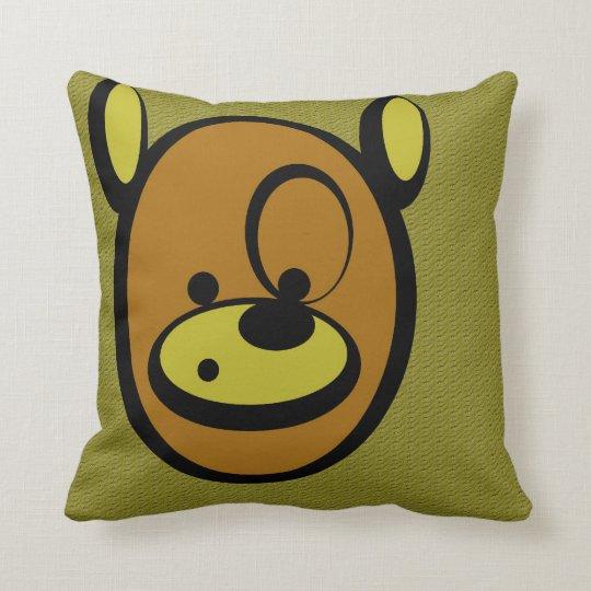 CuddlyCute - Jaz the Bear Throw Pillow