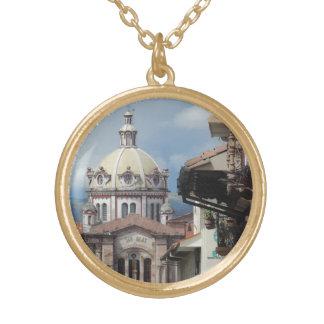 Cuenca Ecuador - Iglesia de San Blas Gold Plated Necklace