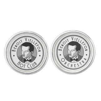 Cufflinks - Benoit Hot Club/Orchestra (B&W logo)