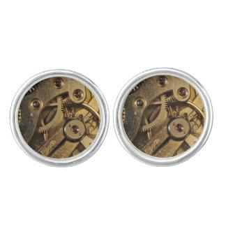 CuffLinks: Brass Hearted. Watch Mechanism Cufflinks