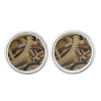 CuffLinks: Tic Tac Wheels. Watch Mechanism Cufflinks