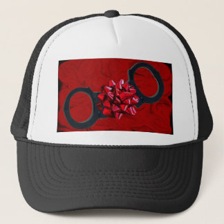 CUFFS FOR CHRISTMAS TRUCKER HAT