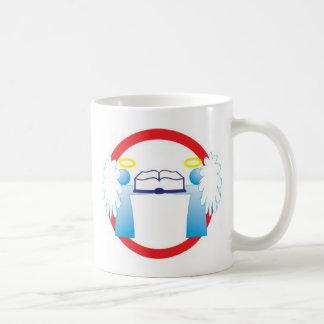 Cuide bem do livro anjinho sinal de transito classic white coffee mug