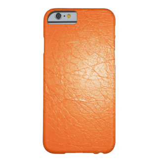 Cuir orange de Faux Coque iPhone 6 Barely There