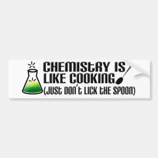 Cuisine de chimie autocollant de voiture