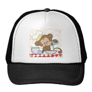 Cuisinier de singe casquettes
