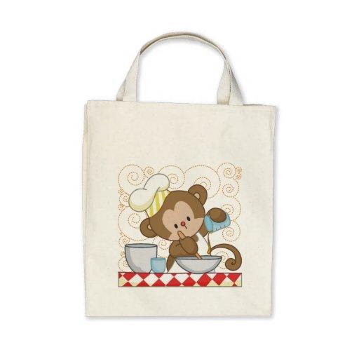 Cuisinier de singe sac en toile