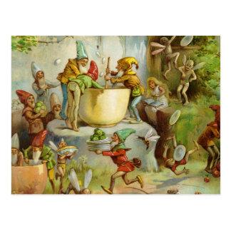 Cuisson dans la cuisine de gnome cartes postales