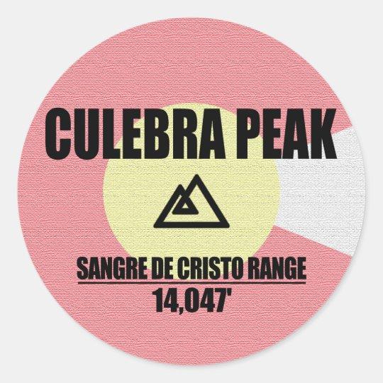 Culebra Peak Classic Round Sticker