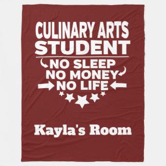Culinary Arts College Major No Sleep No Money Fleece Blanket