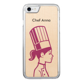 Culinary Baker Cake Decorator Chef Carved iPhone 8/7 Case