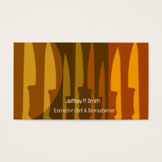 Culinary Cook Chef Knife Cooking Business Card