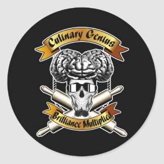 Culinary Genius: Brilliance Multiplied x2 Round Sticker