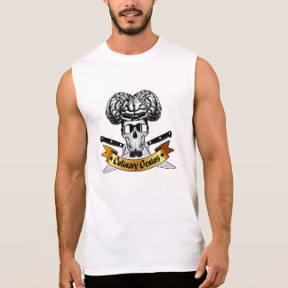 Culinary Genius: Chef Skull Sleeveless Shirt