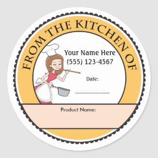 Culinary Personalized Baking Sale Labels
