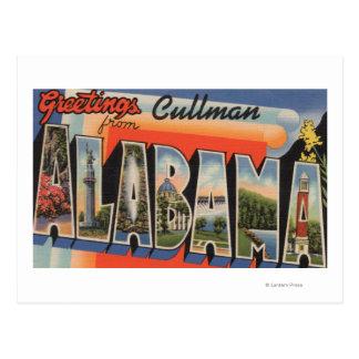 Cullman, Alabama - Large Letter Scenes Postcard
