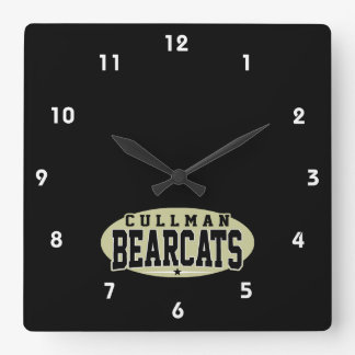 Cullman High School; Bearcats Square Wall Clock